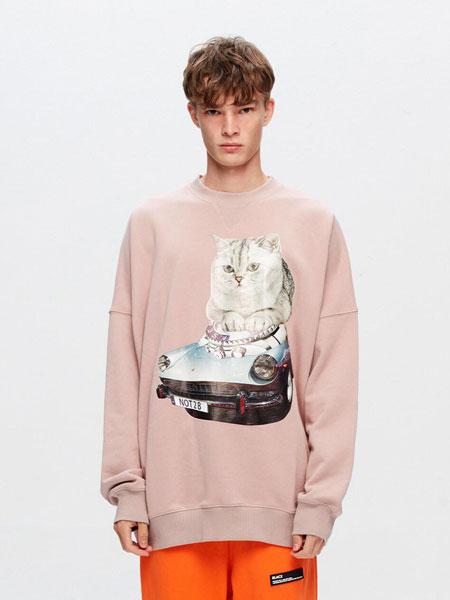 BLACX国际品牌品牌2020春夏宽松图案印染男女同款圆领卫衣(LOBSTER)_粉色