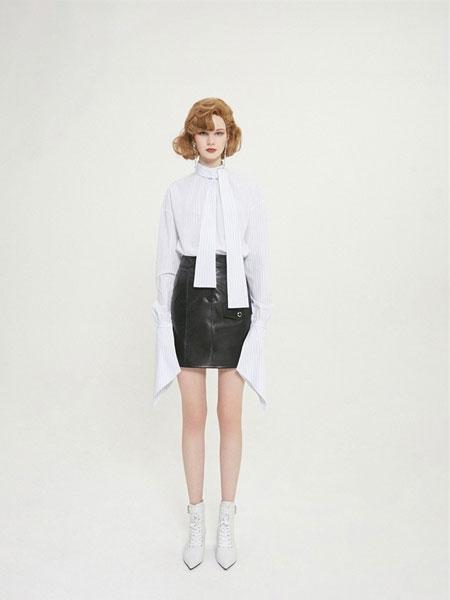 Chris by Christopher Bu国际品牌品牌2020春夏新品女士红唇羊皮半裙