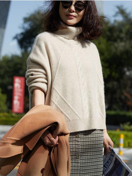 斯庆高娃羊绒衫女2019秋冬新款100%山羊绒纯色百搭高领套头毛衣女