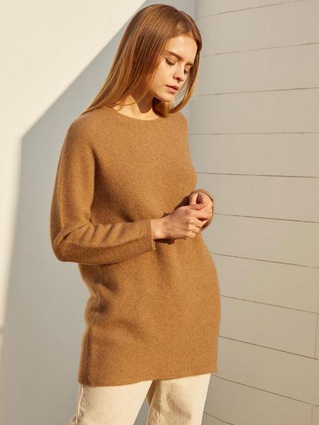 BJOUE国际品牌品牌2019秋冬羊毛浣熊毛针织衫