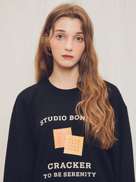 BONIEE国际品牌品牌2020春夏经典饼干图案纯色卫衣