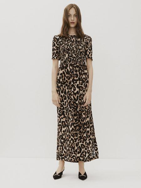AMELLIE国际品牌品牌2020春夏新款豹纹连衣裙