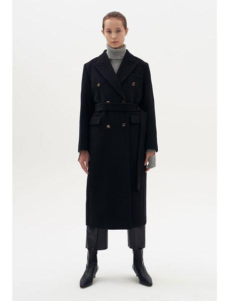 DIAGONAL国际品牌品牌2019秋冬双排纽扣外套