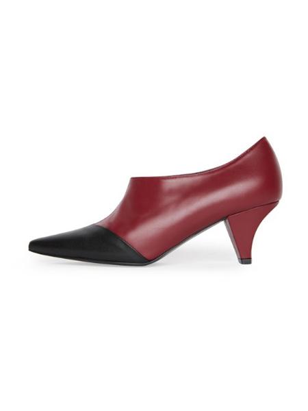 COMMEGEE国际品牌品牌拼接色高跟鞋