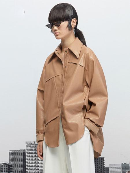 Even Vintage国际品牌品牌2019秋冬酷女孩男友风宽松人造皮衬衫
