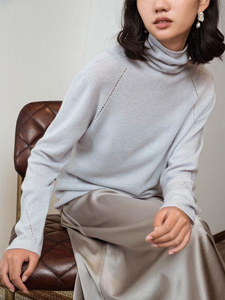 Flannels国际品牌羊绒高领基础款打底针织衫
