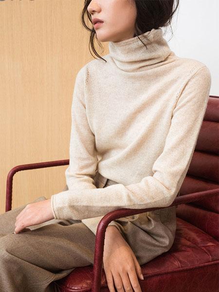 Flannels国际品牌品牌高领全羊绒基础款打底针织衫