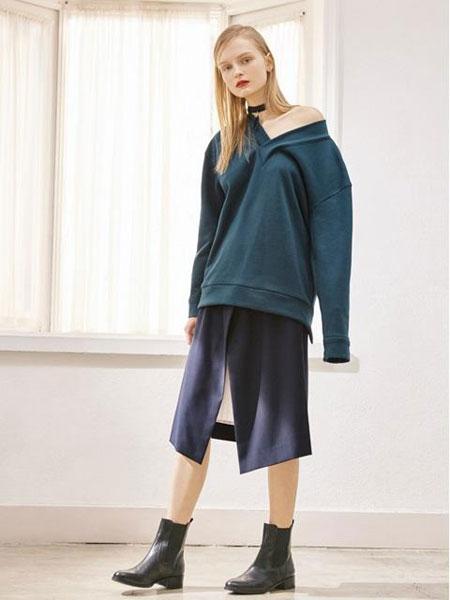 FACTORIAL LABEL国际品牌品牌2020春夏前短后长绑带露背V领卫衣_绿色