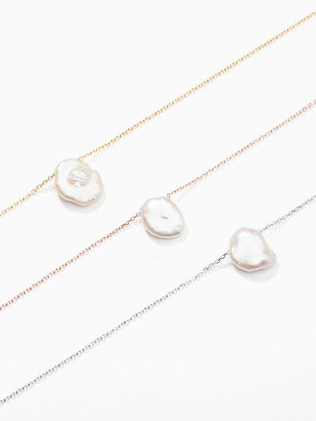 ALAINN国际品牌品牌2020春夏小号异形珍珠吊坠纯银女士项链_白色/