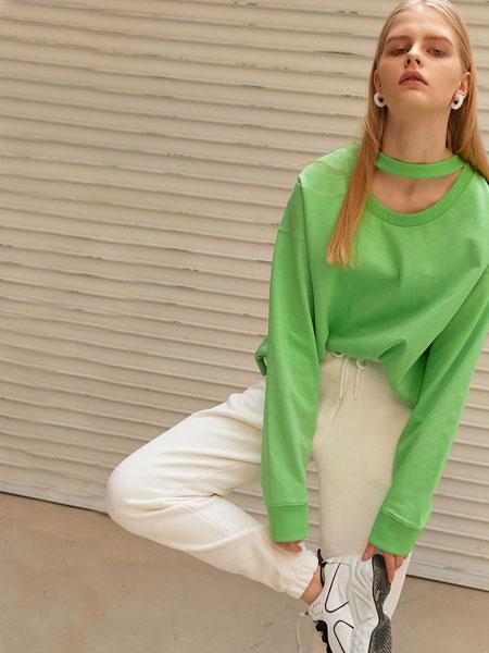 ELLONARC国际品牌品牌2020春夏简约基础款女士收口运动裤_白色