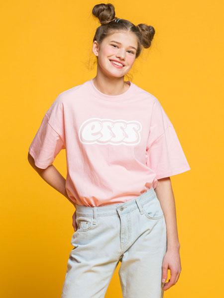 ESSENSI STUDIO国际品牌2020春夏新款印字短袖上衣