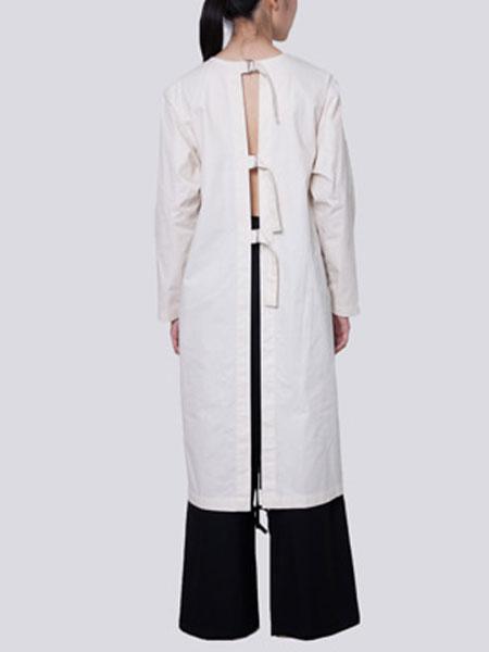 HALOMINIUM国际品牌品牌2020春夏新款系带式开背衬衫