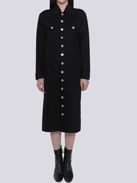 HALOMINIUM国际品牌品牌2020春夏新款纽扣连衣裙