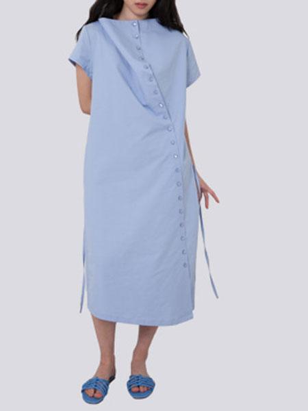 HALOMINIUM国际品牌品牌2020春夏新款系带时连衣裙