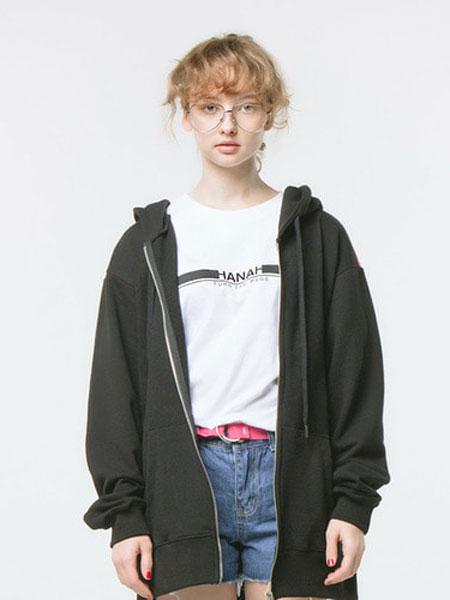 HANAH国际品牌品牌2020春夏经典印字t恤(白色+黑色)