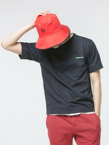 HANAH国际品牌品牌2020春夏新款经典小logo纯色T恤