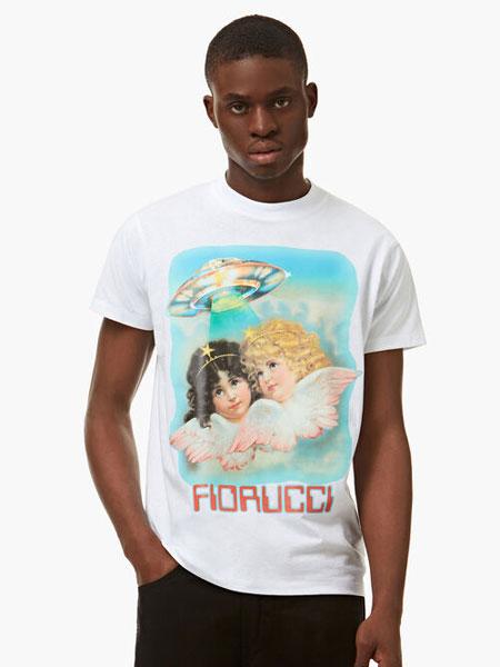FIORUCCI国际品牌品牌2020春夏新款经典天使印花短袖上衣