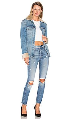 GRLFRND国际品牌2020春夏KAROLINA 高裆紧身牛仔裤