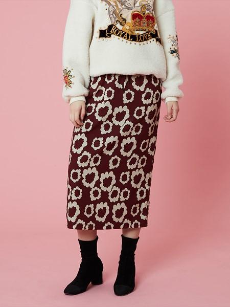HOLLY LOVES LOVE国际品牌品牌针织碎花半身裙
