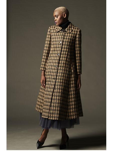 JOOSOOLOO国际品牌时尚格子大衣