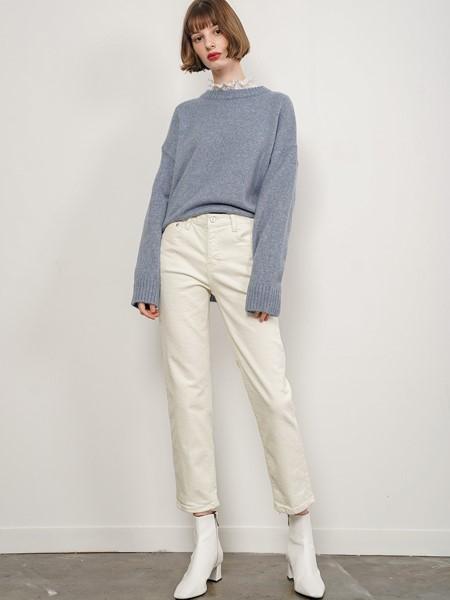JUDEMCCALL国际品牌品牌假两件温柔风毛衣