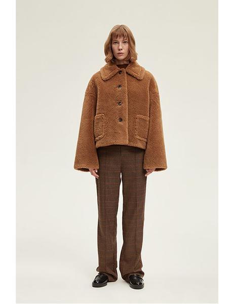 INSIS FEMME国际品牌品牌羊羔毛外套