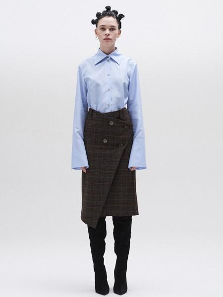 JACOON国际品牌品牌时尚喇叭袖衬衣