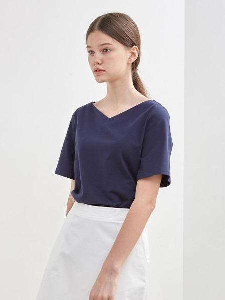 KLEAN���H品牌品牌2020春夏大V�I�色短袖T恤_藏青色