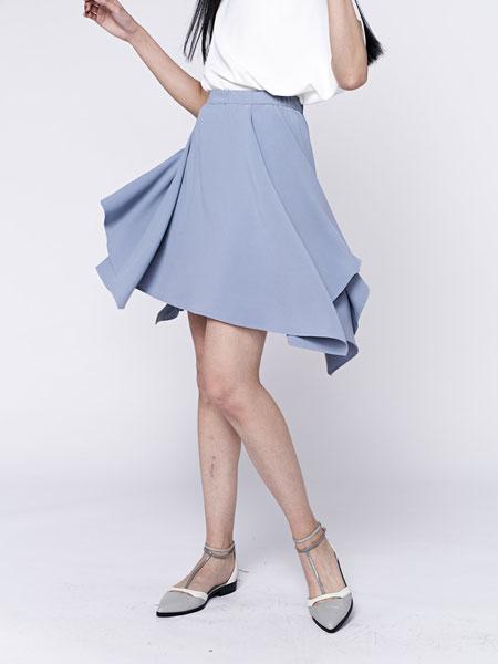 HALFME国际品牌品牌2020春夏侧抓褶伞摆短裙