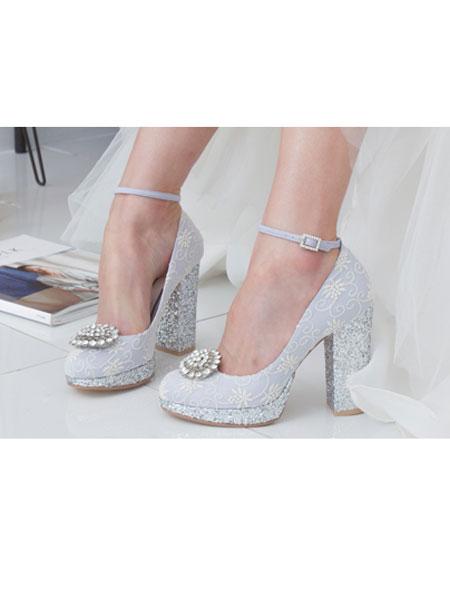 HONEYVITO国际品牌品牌2020春夏新款带花扣带式高跟鞋