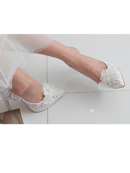 HONEYVITO国际品牌HONEYVITO国际品牌2020春夏新款带花高跟鞋