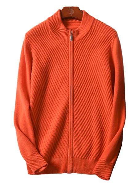 纳匹休新款男士加厚日系拉链开衫纯色山羊绒韩版针织打底衫包邮