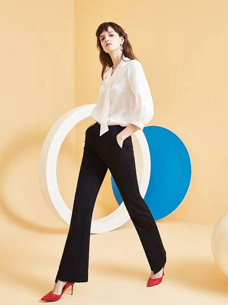 茜舞女装品牌2020春夏新款高腰牛仔裤