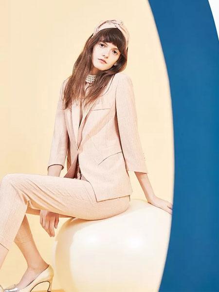 茜舞女装品牌2020春夏新款纯色西装套装