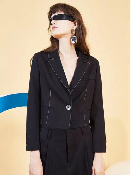 茜舞女装品牌2020春夏新款长袖西装外套