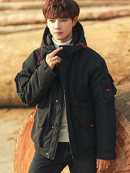 UPD男装品牌2019秋冬新款带帽薄棉外套