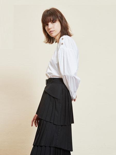 那汀女装品牌2020春夏新款真丝衬衫