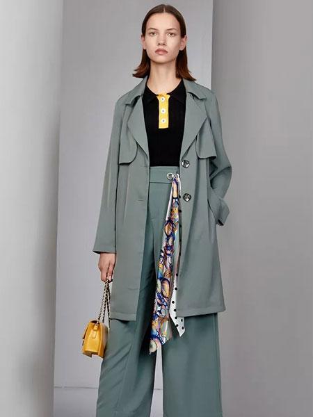 芊之美女装品牌2020春夏新款丝绸大衣 显气质百搭