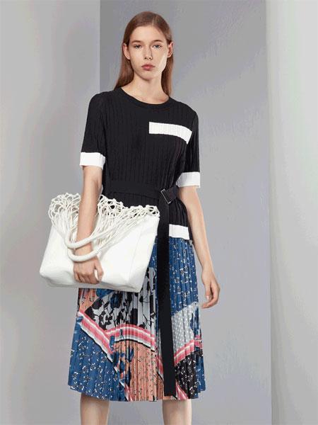 芊之美女装品牌2020春夏新款简洁短袖上衣