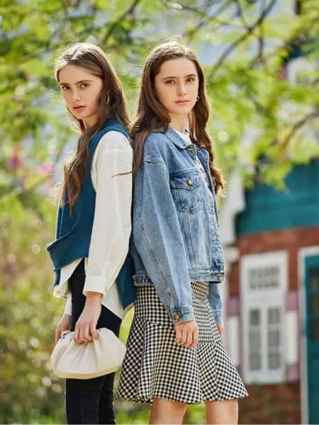 麦寻女装品牌2020春夏新款纽扣牛仔外套
