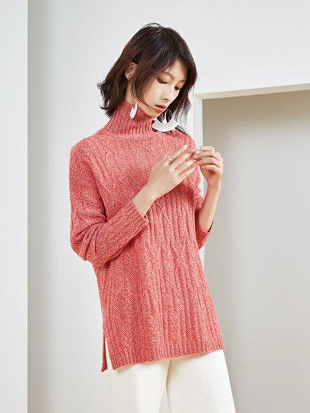 华家那女装品牌2019秋冬新款羊绒针织高领毛衣