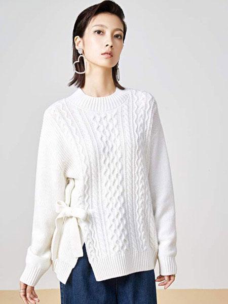 华家那女装品牌2019秋冬新款羊绒针织纯色毛衣