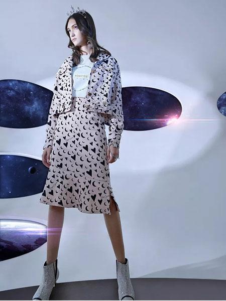 卡尼欧女装品牌2020春季新款印花半身裙套装