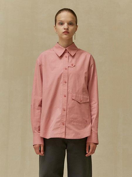 LOW CLASSIC国际品牌2019秋冬经典纽扣装饰走线细节女士长袖衬衫_粉色