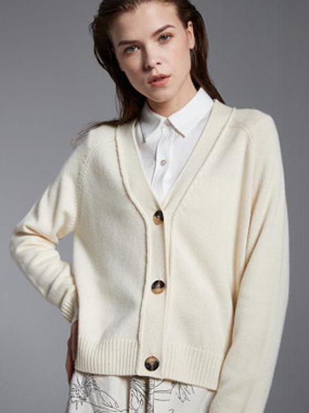 万丽女装品牌2020春夏新款羊毛衫针织衫外套简约