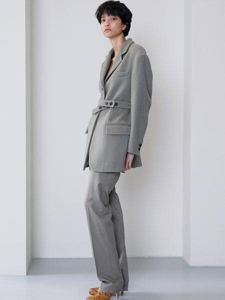 MAISON MARAIS国际品牌品牌2019秋冬修身橄榄色裤子
