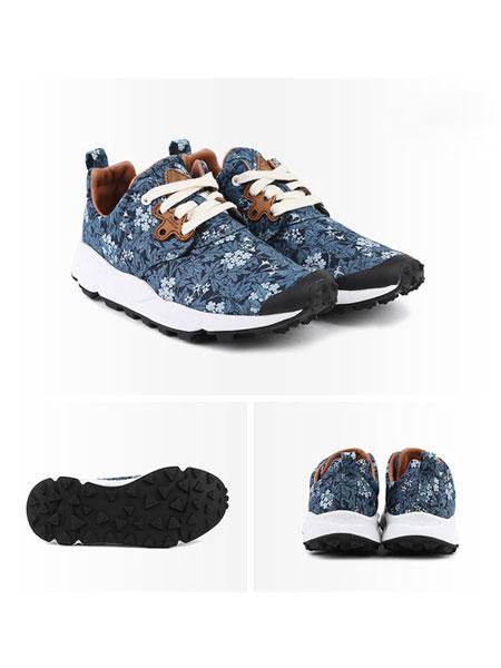 FlowerMountain山雾花野(运动鞋)茉莉蓝色印花