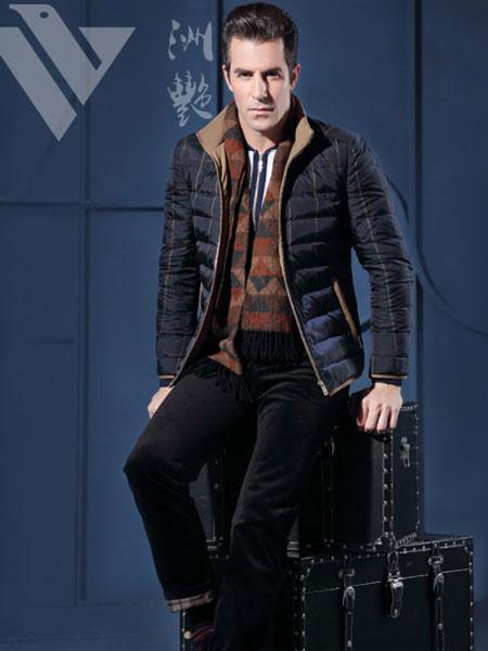 洲艳男装品牌2019秋冬新款毛呢西装外套