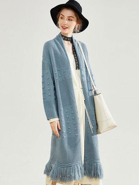 戈蔓婷女装品牌2019秋冬新款纯色丝绸长款夹克