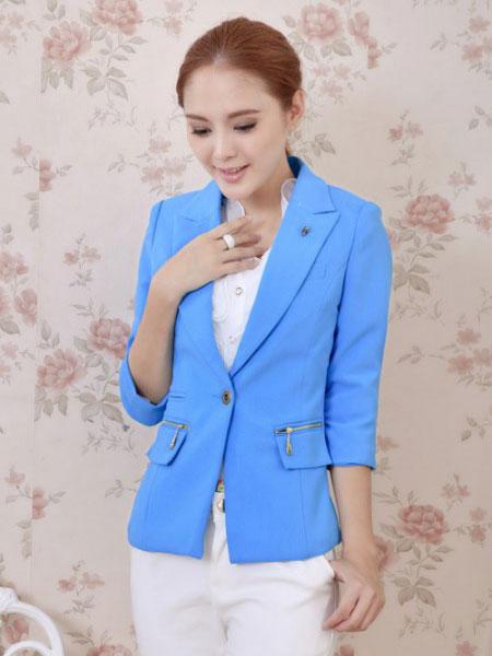 淑女日记女装品牌2020春夏新款纯色单个纽扣外套